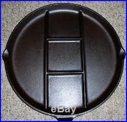 Griswold #665e Divided Breakfast Skillet Large Block Logo Erie Pa. USA Cast Iron
