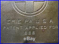 Griswold 666 Colonial Breakfast Skillet Erie Square Griddle Camp Skillet Pan