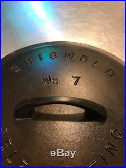 Griswold 7 Cast Iron Skillet Cover Lid