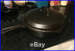 Griswold 8 cast iron hammered skillet in great shape