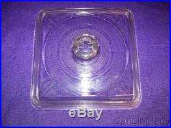 Griswold 9 1/2 Square Glass Skillet Cover Nice