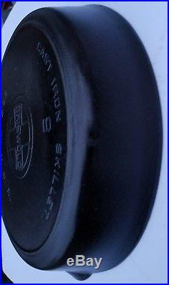 Griswold 9 Large Block Logo & Heat / Smoke Ring 710 Cast Iron camp Skillet / Pan