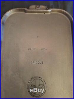 Griswold #9 Long Griddle 909 A Large Logo Quality Cast Iron