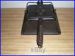 Griswold American No. 11 cast iron Square Waffle iron High Base Pat'd 1908