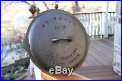 Griswold Cast Iron # 10 Self Basting Skillet Lid 470 Erie Cover Dome dutch oven