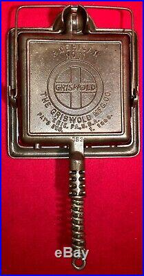 Griswold Cast Iron # 11 Square Low Base Waffle Iron