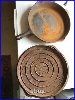 Griswold Cast Iron 12 Skillet 472 Rusty Pan and Lid