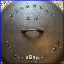 Griswold Cast Iron #13 Tite-Top Dutch Oven 15''dia. X 8 1/2'' deep