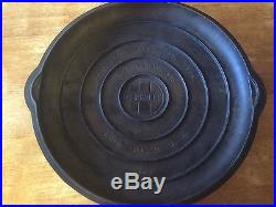 Griswold Cast Iron #14 Large Block Logo Skillet With Skillet LId / Cover