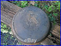 Griswold Cast Iron #14 Large Block Logo Skillet with Heat Ring 718