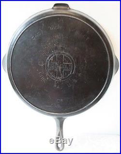 Griswold Cast Iron 14 Skillet Heat Smoke Ring 718 Large Block Logo Erie PA USA