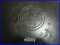 Griswold Cast Iron 14 skillet Very Nice Used Shape