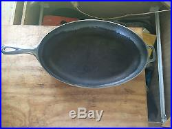 Griswold Cast Iron # 15 Oval Skillet With No LOGO