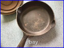 Griswold Cast Iron #3 Lid Small Logo With Fry Pan 1093 Set