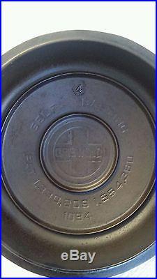 Griswold Cast Iron #4 Button Logo Lid VHTF