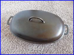 Griswold Cast Iron #5 Large Block Slant ERIE Dutch Oven Oval Roaster PN 2629