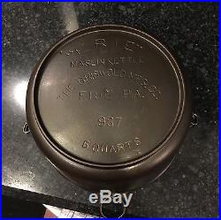 Griswold Cast Iron 6 Quart Maslin Kettle nice Double Marked Full Script Rare