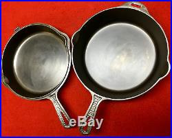 Griswold Cast Iron # 8 Hammered Double Skillet