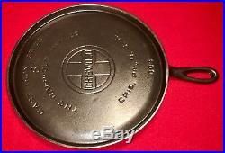 Griswold Cast Iron # 8 Handle Griddle Large Block Logo EPU FLAT