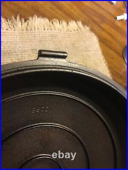 Griswold Cast Iron Hinged Skillet with Lid No. 8 Hammered Erie PA. No. 2008 Nice
