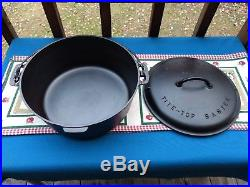 Griswold Cast Iron No. 10 Tite-Top Baster Dutch Oven, Restored