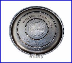 Griswold Cast Iron No. 6 Tite-Top Dutch Oven & Lid with large block logo 2605 A