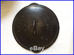 Griswold Cast Iron Number 12 Skillet with Lid