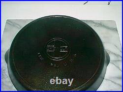 Griswold Cast Iron Skillet 14 718B Large Logo WithHeat Ring No Chips Or Cracks