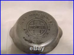 Griswold Cast Iron Skillet No. 2 Large Logo Block Letters 6 Du Chro