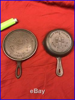Griswold Cast Iron Toy Handle Griddle With Toy Skillet Size 0 565 562