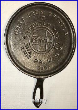 Griswold Cast Iron Toy / Salesman Sample # 0 Handle Griddle