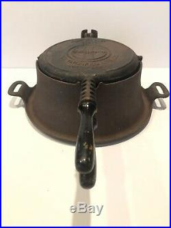 Griswold Cast Iron Waffle Iron High Base No. 8 Fully Marked