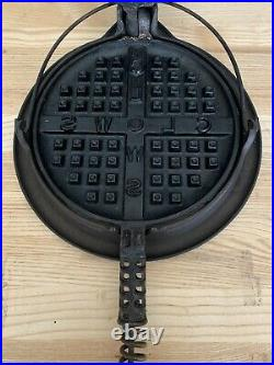 Griswold Cast Iron Waffle Maker Rare Clows Model