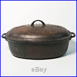 Griswold Dutch Oven Oval Roaster #7647 Base 648 Cover and 276 Trivet Cast Iron