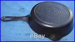 Griswold Erie 724A Large #5 Logo Heat Ring Skillet Cast Iron Pan Vtg Antique