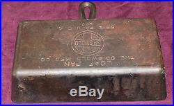 Griswold Erie RARE Vintage Antique Loaf Pan Baking pan PN 877 & PN 859 Top