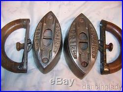 Griswold Erie Sad Iron Box & Sad Iron Set Extremely Htf