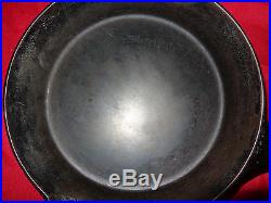 Griswold Erie Spider # 8 cast-iron cookware frying pan used