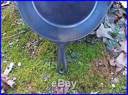Griswold Extra Deep #8 Cast Iron Skillet Heat Ring Large Slant Logo ERIE PA USA