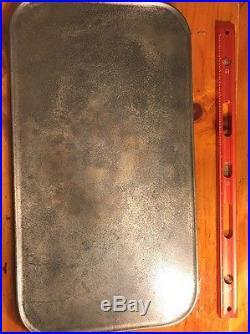 Griswold Griswold's #11 2434 Cast Iron Griddle Slant Rare