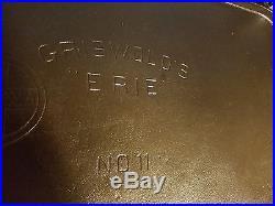 Griswold Griswold's Erie #11 2434 Cast Iron Griddle Slant rare