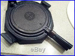 Griswold Hammered Cast Iron # 8 Waffle Iron Matching Pattern Numbers 171 172 173