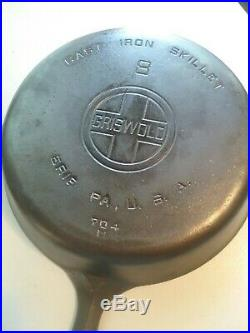 Griswold Large Logo #8, 10-1/2 Cast Iron Skillet With Lid, #704, Restored