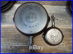 Griswold Large Logo #'s 3 through 10 Smooth Bottom Cast Iron Skillets, restored