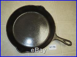 Griswold No. 10 Cast Iron Skillet Large Block Logo with Heat Ring 716 B