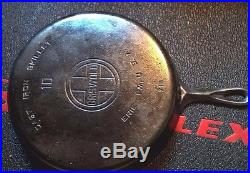Griswold No 10 Cast Iron Skillet VG Condition