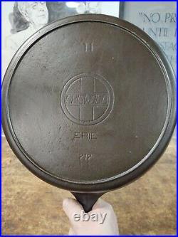 Griswold No 11 Slant Logo Cast Iron Skillet Erie 719 Seasoned 13 Hard to Find