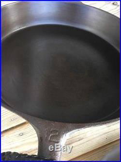 Griswold No. 12 Cast Iron Skillet LBL EPU p/n 719 Heat Ring Large Block Logo Erie
