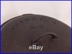 Griswold No. 12 Cast Iron Skillet and Lid