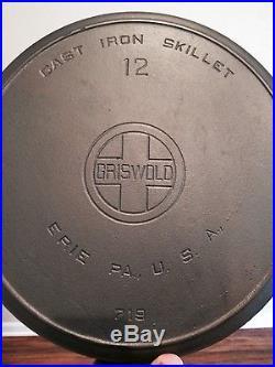 Griswold No 12 Large Block Logo Skillet